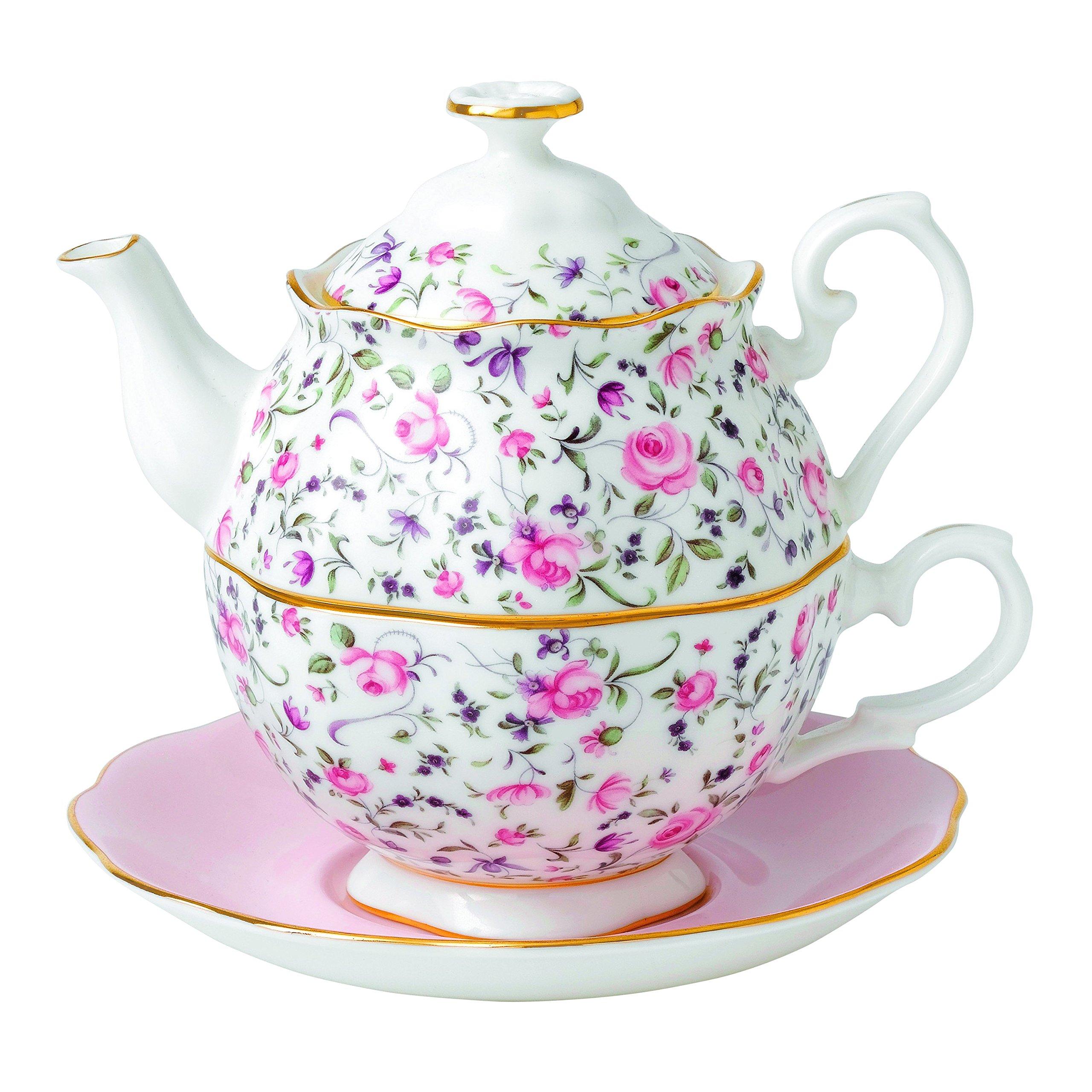 Royal Albert Rose Confetti Tea For One