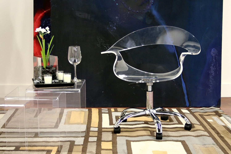 Amazoncom Baxton Studio KERR Acrylic Swivel Chair Kitchen Dining