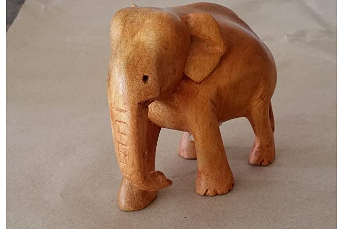 Amazon Real Natural Wood Style Lucky Elephant Trunk Down100