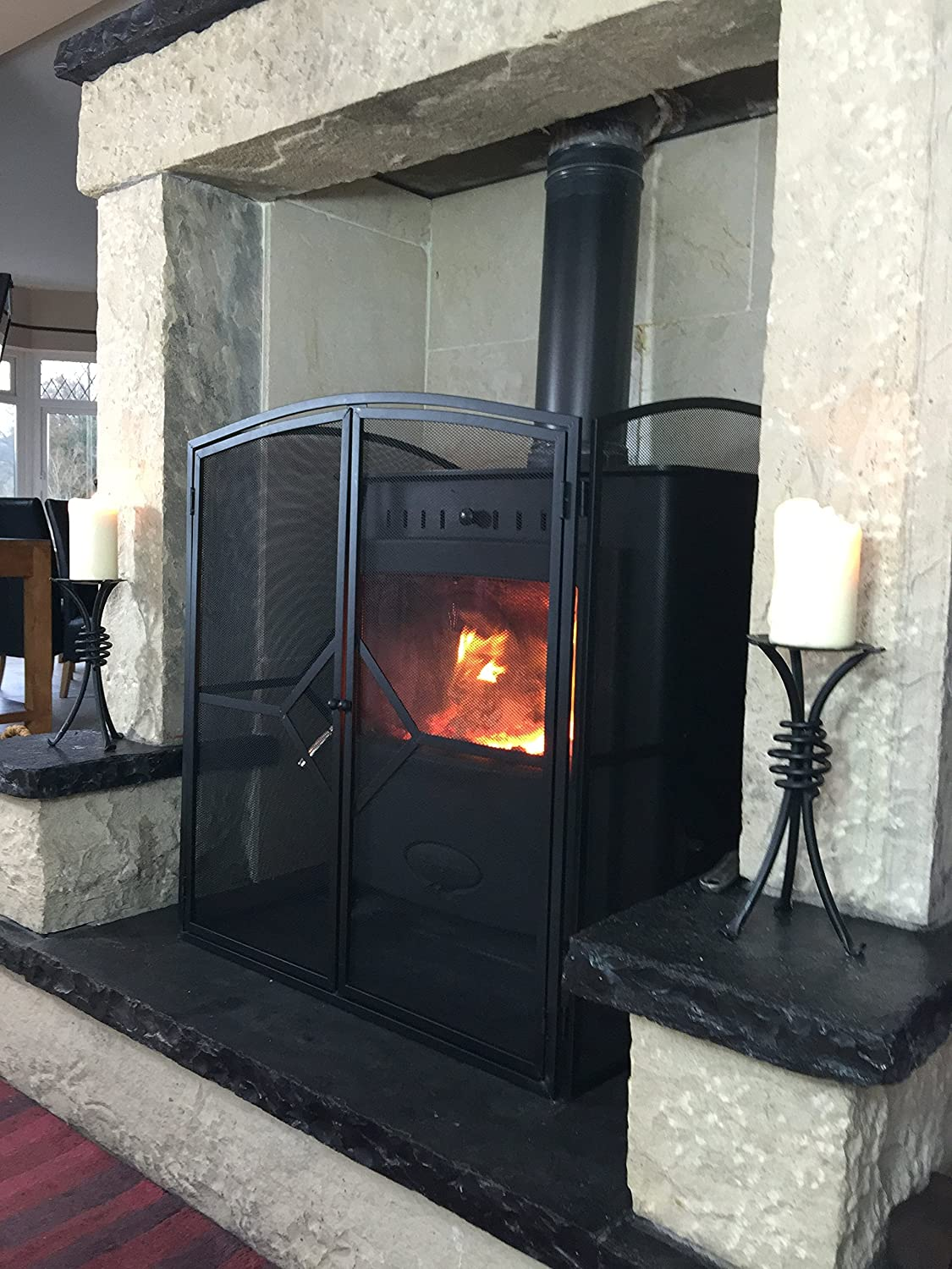superior heavy quality fire guard stove screen h32