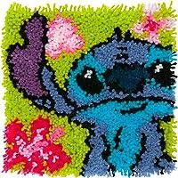 "Dimensions 72-75542 Arts and Crafts Lilo y Stitch Latch Hook Kit, tamaño acabado: 12"" x 12"""