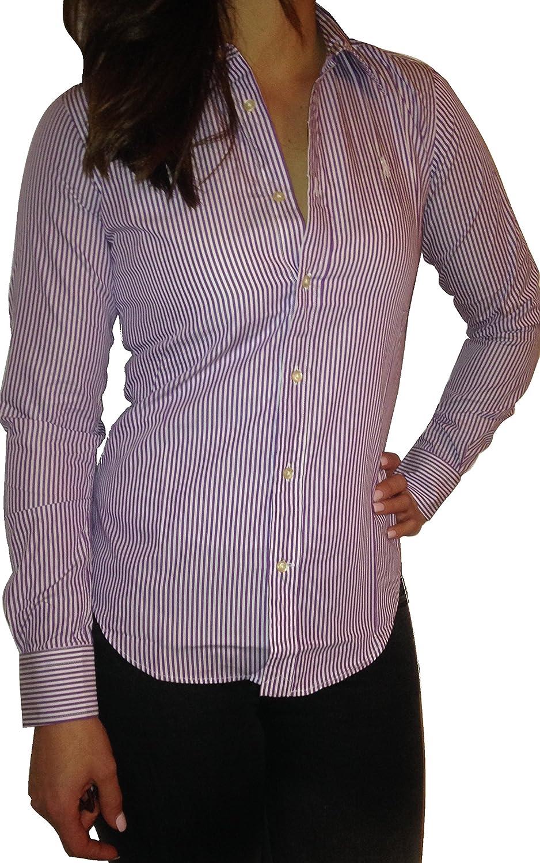 Polo Ralph Lauren - Camisas - Rayas - para mujer Morado morado ...