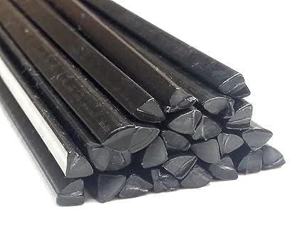 Alambre de soldadura de plástico PE-LD Negro 6mm Triangulares LDPE 25 barra