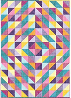 f084e1324509 Connecting Threads Beginner Quilt Kit - Half-Square Triangle Fun (Chambray  Tonal)