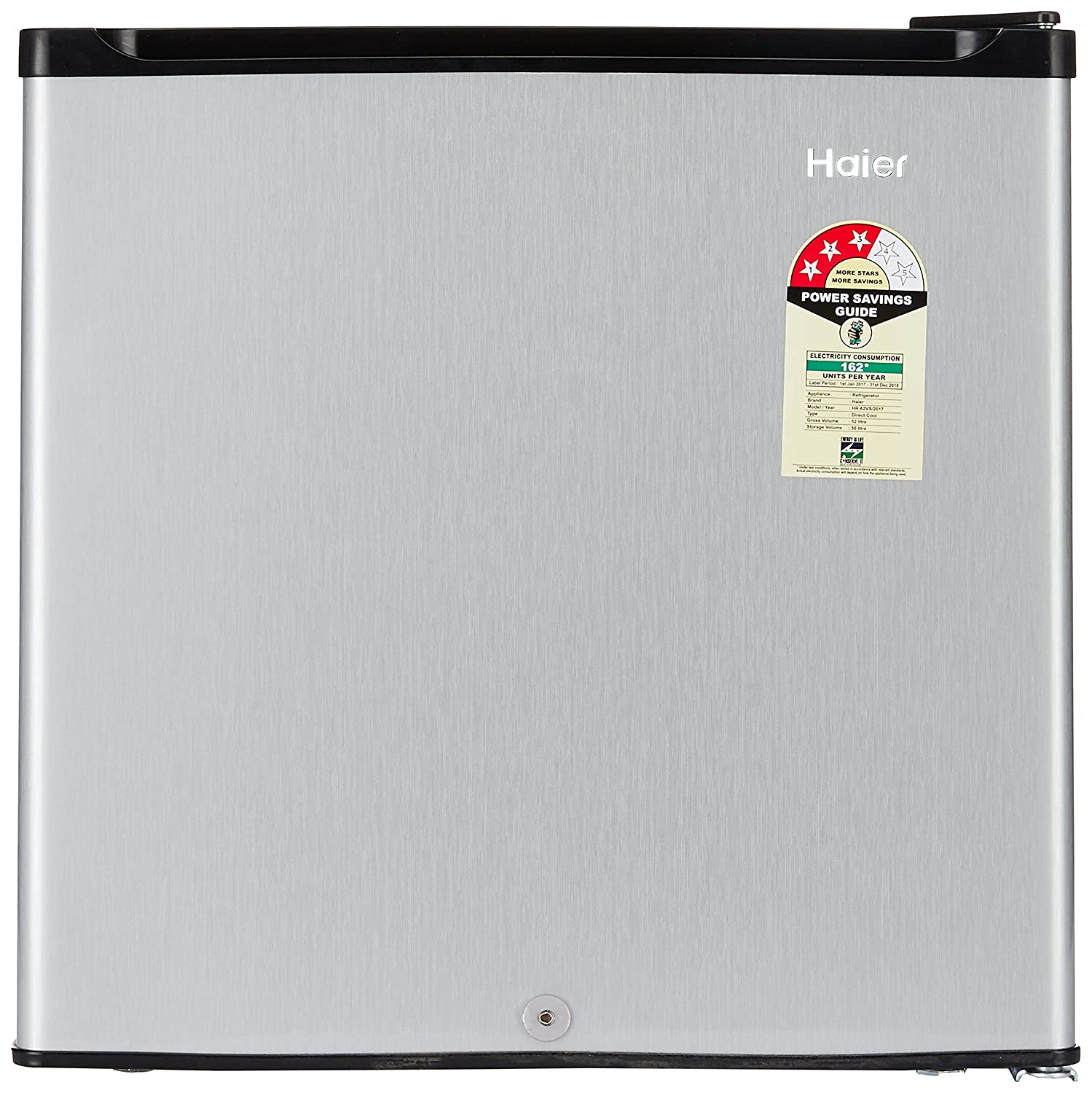 Haier 52 L 3 Star Direct Cool Single Door Refrigerator(HR-62VS, Silver)