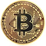 x2 CryptoGear Fine Gold Plated Copper Commemorative Round Bitcoin| Physical Bitcoin is gold plated copper in Protective Case