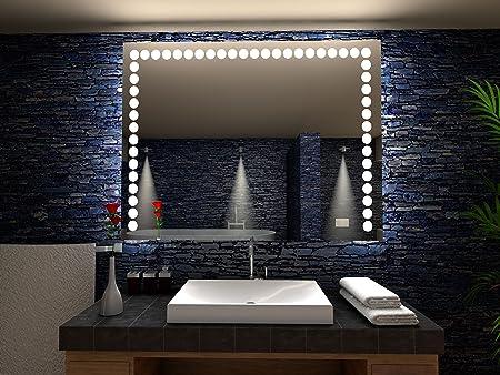 Flers Miroir De Salle De Bain Avec Eclairage Led 90 Cm X 90 Cm