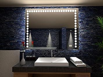 Flers Miroir De Salle De Bain Avec Eclairage Led 120 Cm X 80 Cm