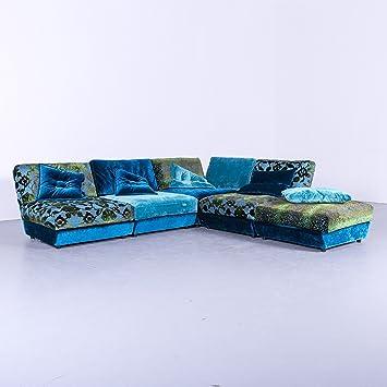 bretz napali Designer Tissu canapé d\'angle Bleu Turquoise Velours ...