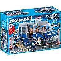 Playmobil Fourgon de policiers matériel de Barrage, 9236