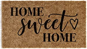 Barnyard Designs 'Home Sweet Home' Door Mat,  Indoor/Outdoor Non-Slip Rug, Front Door Welcome Mat for Outside Porch Entrance, 30