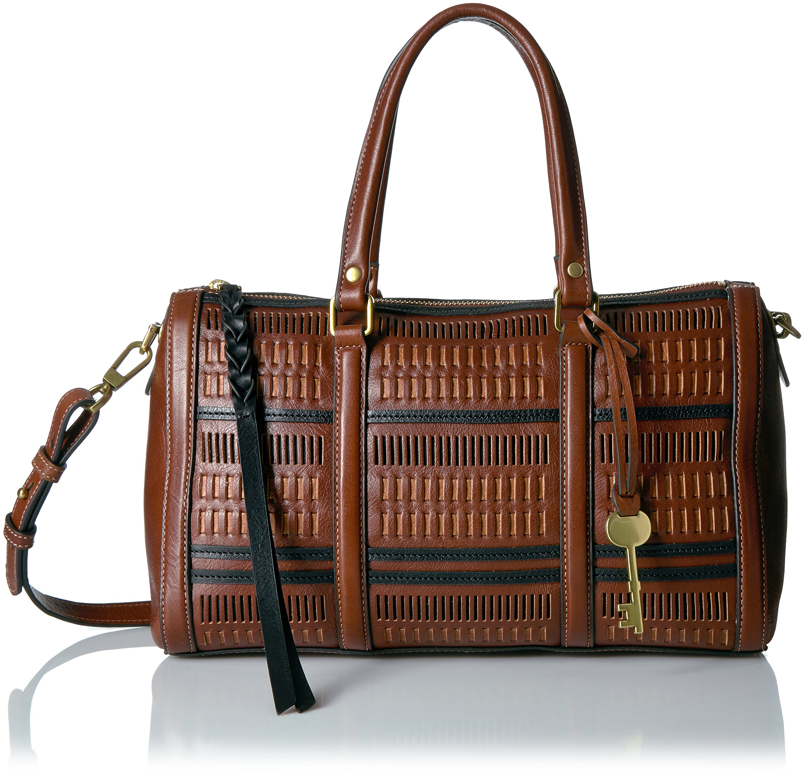 Fossil Kendall Satchel, Multi/Brown by Fossil