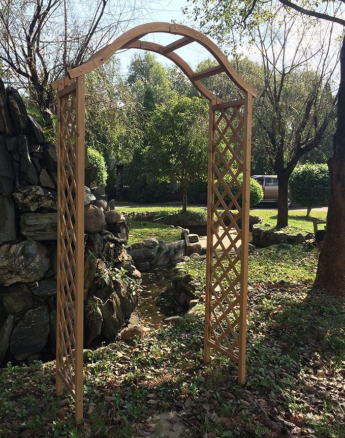 Woodside – Arco de Madera para jardín pérgola Planta Apoyo celosía ...