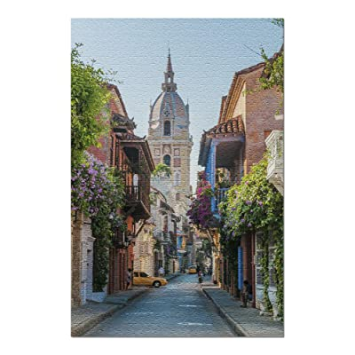 On The Streets of Cartagena, Colombia 9026677 (Premium 1000 Piece Jigsaw Puzzle for Adults, 20x30, Made in USA!): Toys & Games