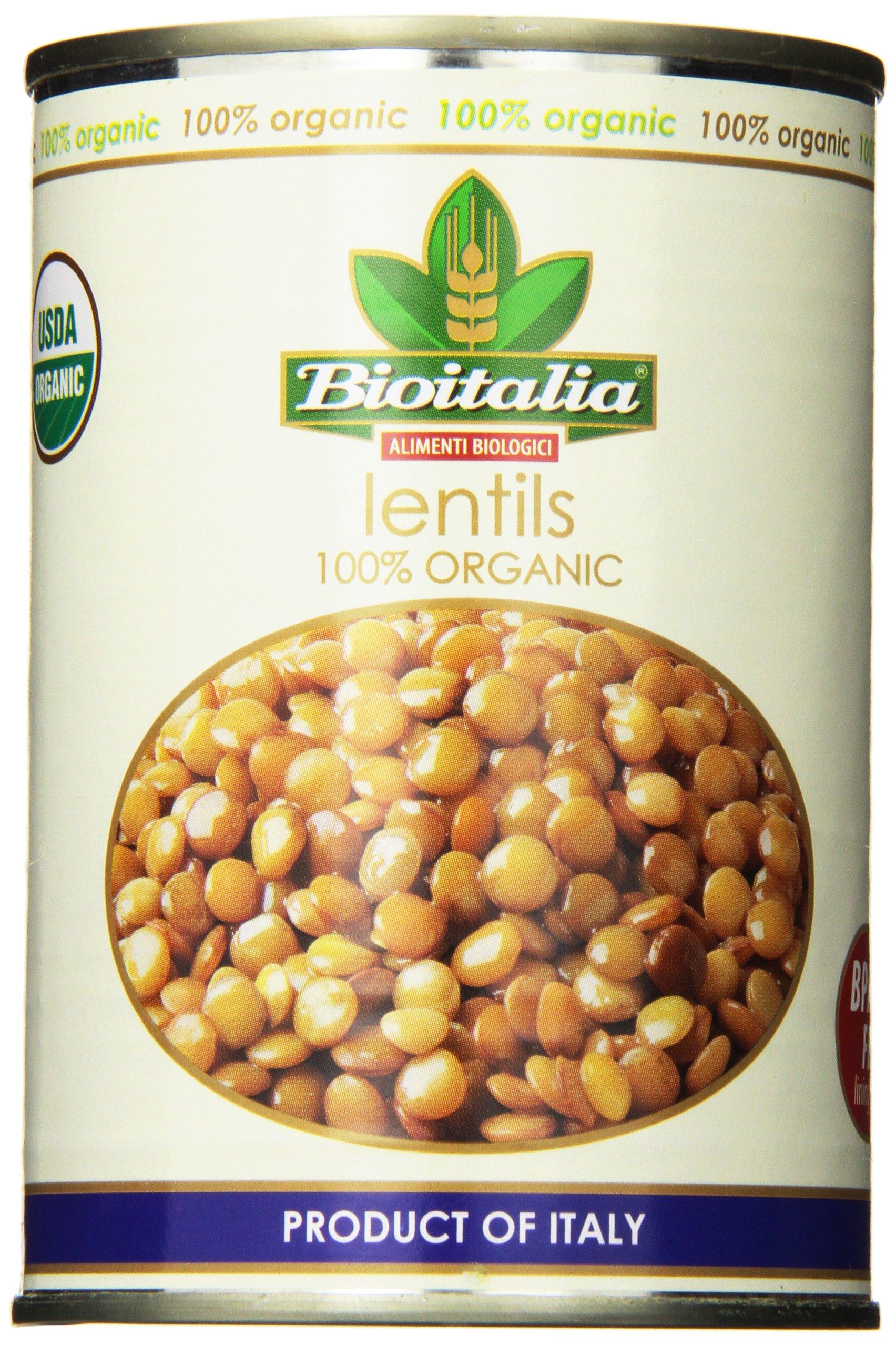 Bioitalia Lentils, 14 Ounce (Pack of 12)