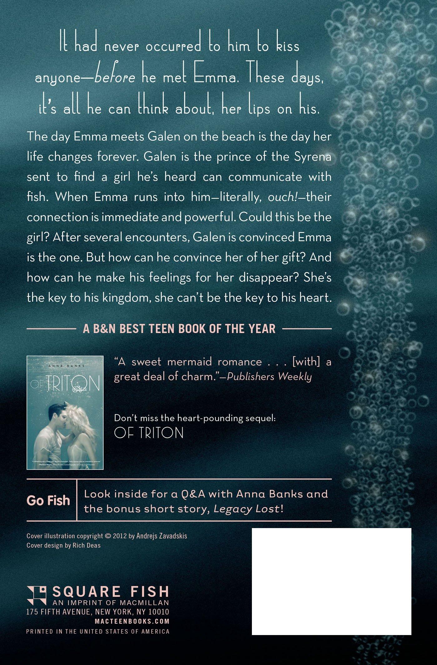 Amazon: Of Poseidon (the Syrena Legacy) (9781250027368): Anna Banks:  Books