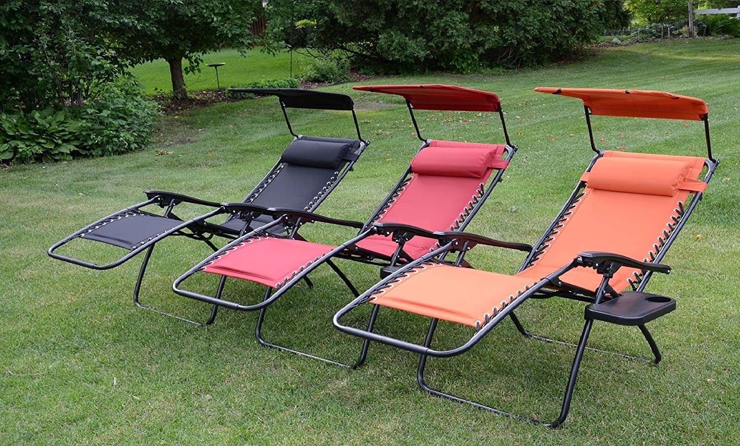 Merveilleux Amazon.com : Deluxe Padded Zero Gravity Chair With Canopy + Tray   Sweet  Tangerine : Garden U0026 Outdoor