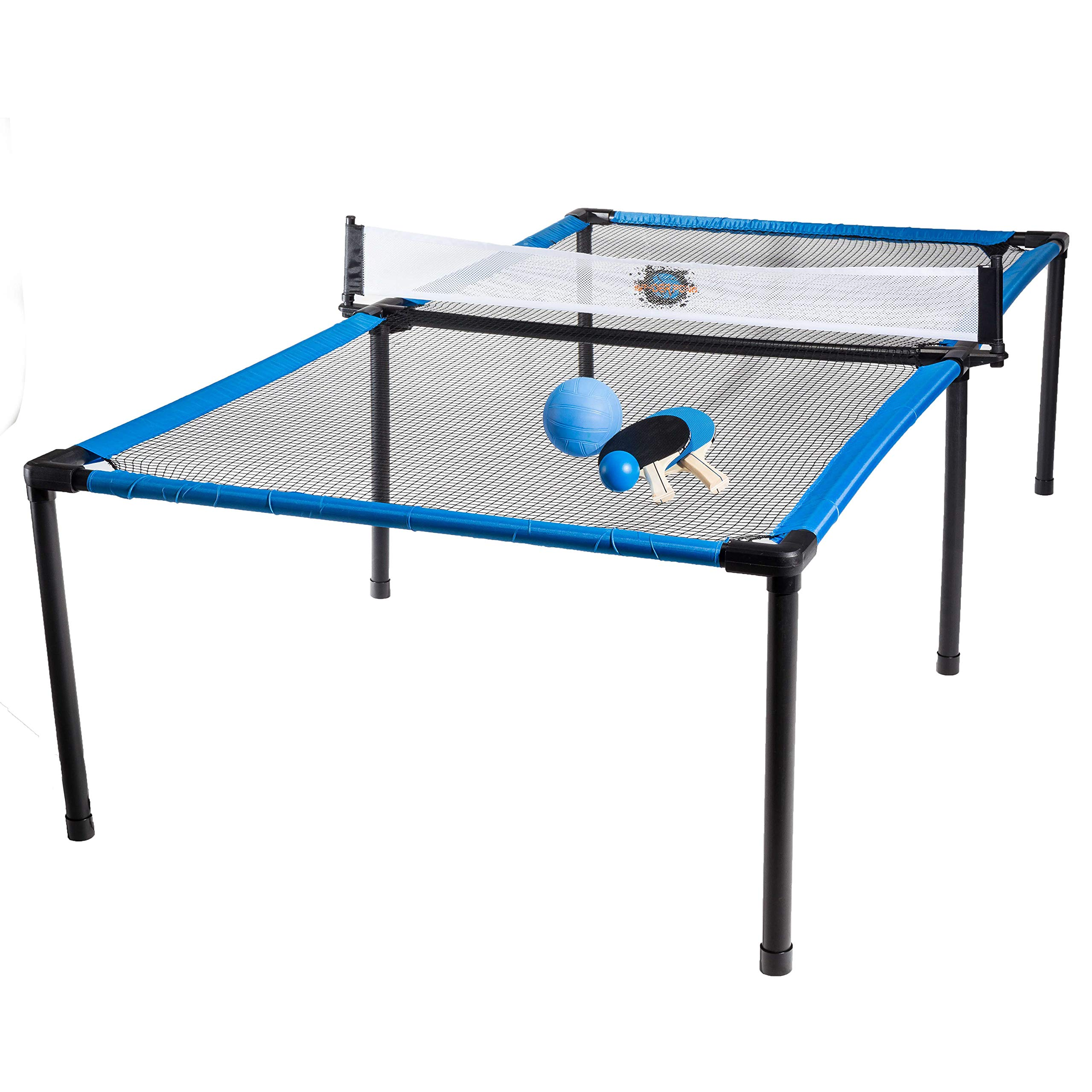 Franklin Sports SypderPong Tennis - Table Tennis, Volleyball and 4-Square Outdoor Game - Indoor or Outdoor Game for Kids - Includes Net, Table, Paddles and Ball by Franklin Sports
