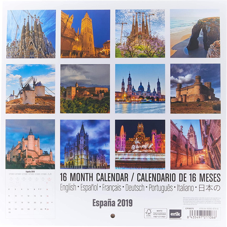 Grupo Erik Editores CP19075 - Calendario 2019 España, 30 x 30 cm ...