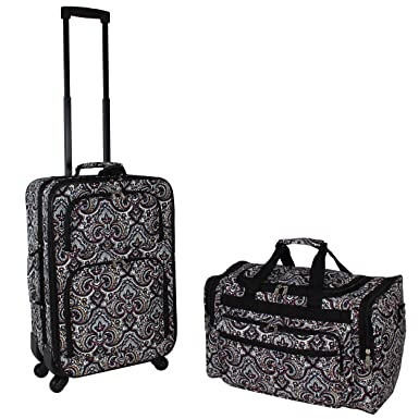 b0a062a15 World Traveler 2-Piece Carry-on Expandable Spinner Luggage Set-Bengali