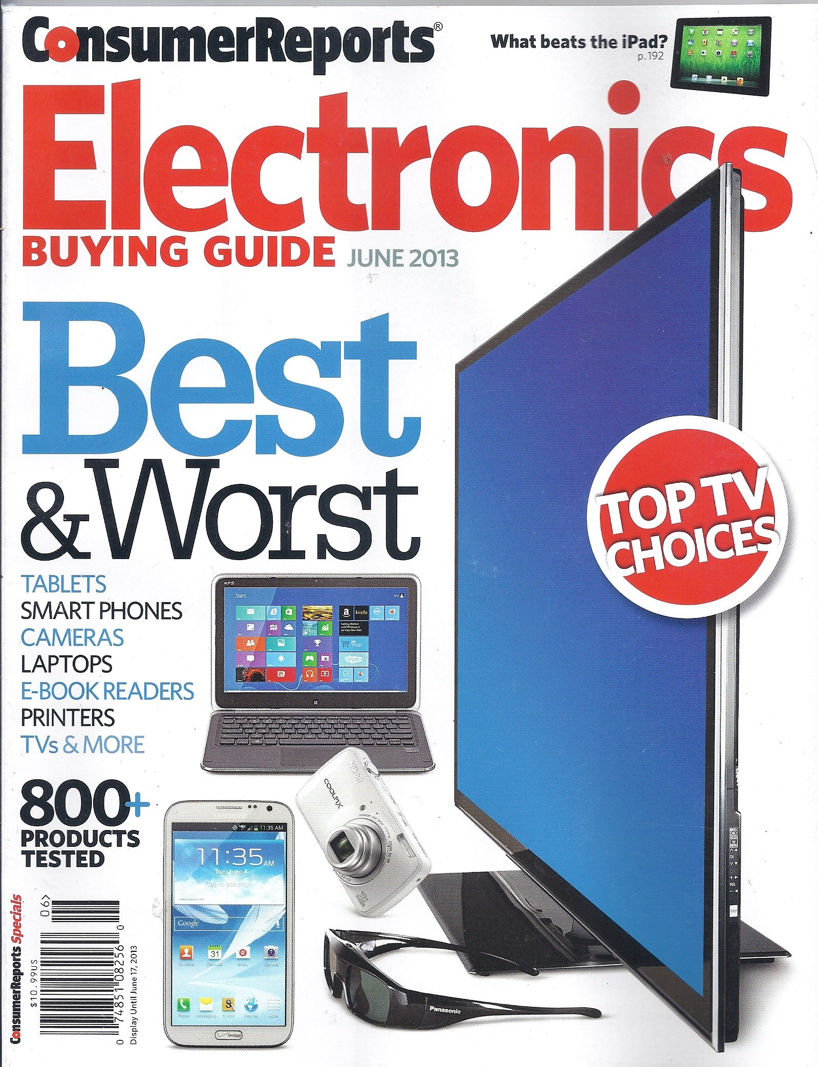 Consumer Reports Electronics Buying Guide (June 2013): Nancy Feldman:  Amazon.com: Books