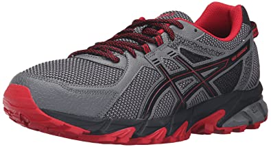 ASICS Men's Gel-Sonoma 2 Trail Runner, Carbon/True Red/Black,