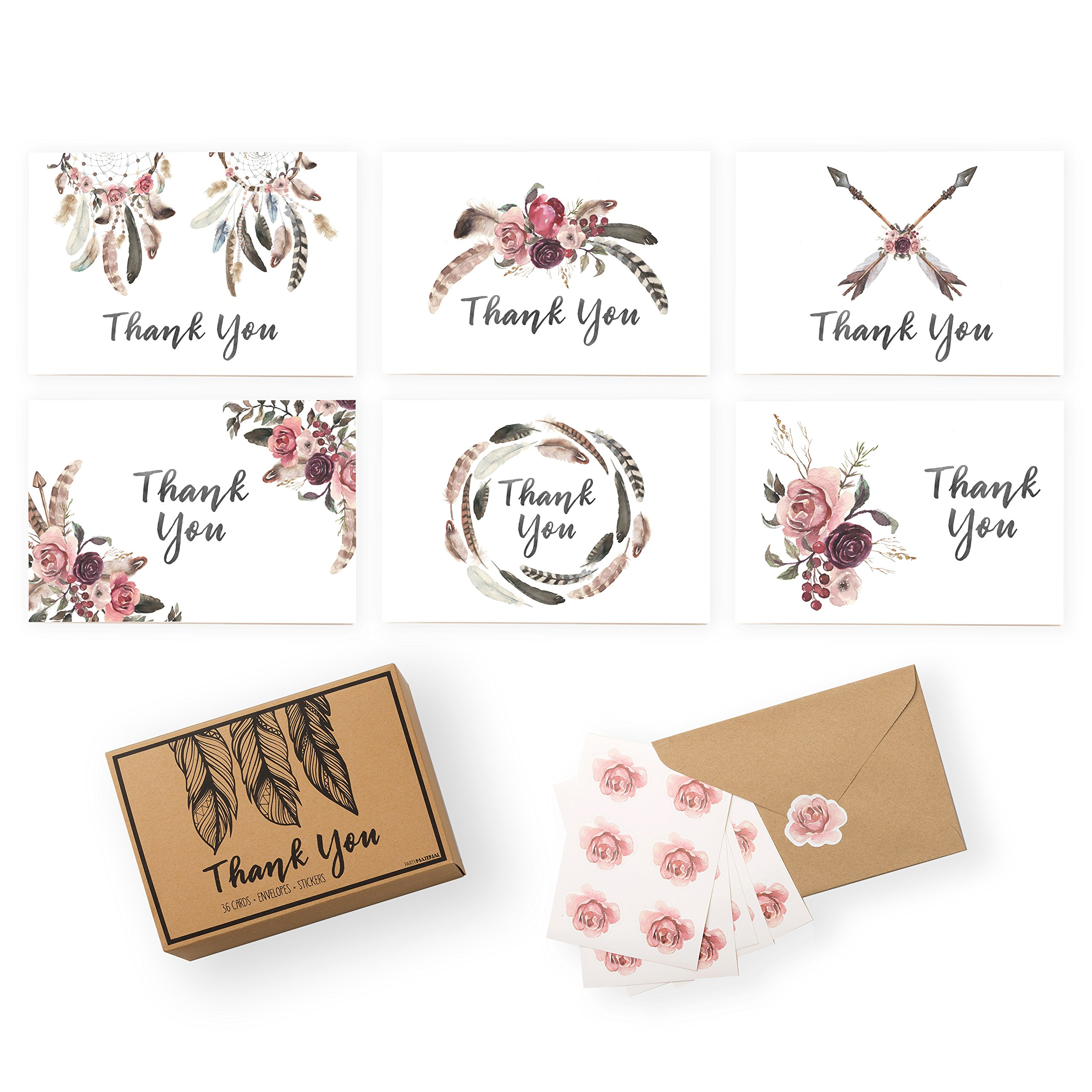 xo fetti rustic thank you cards baby shower wedding business set