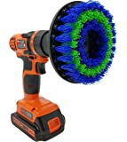 """Medium 5"""" Drill Brush Attachment: Beast Brush Spin Power Scrubber for Fast and Easy Cleaning, Medium Bristles"""