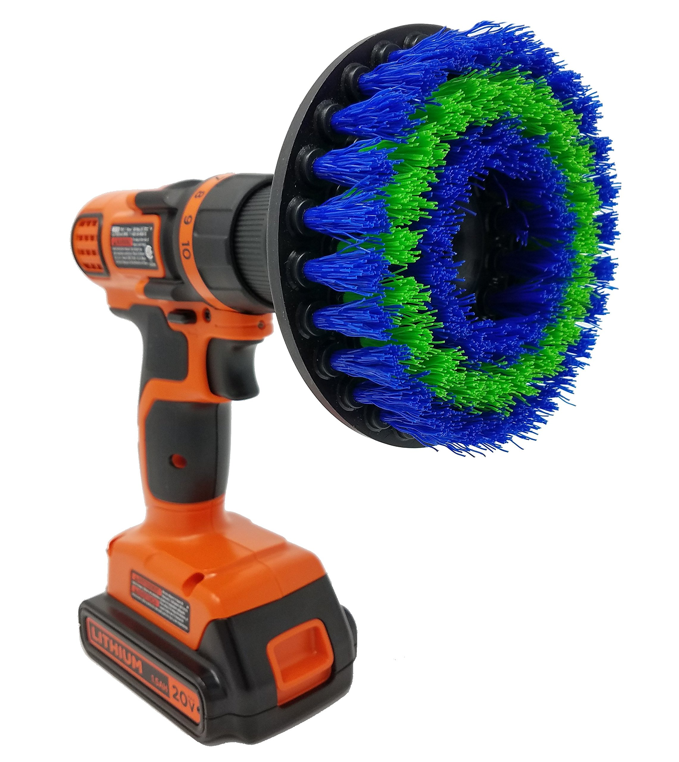 Medium 5'' Drill Brush Attachment: Beast Brush Spin Power Scrubber for Fast and Easy Cleaning, Medium Bristles