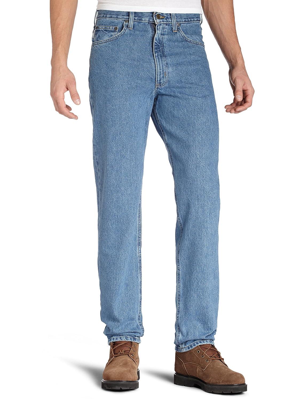 Carhartt Men's Relaxed Fit Five Pocket Tapered Leg Jean B17 Carhartt Sportswear - Mens