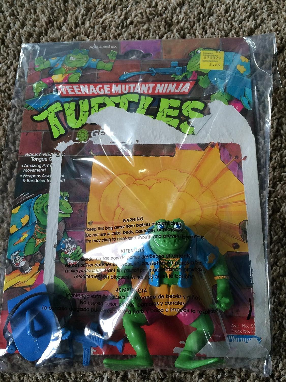 1990 TMNT GENGHIS FROG Figure Teenage Mutant Ninja Turtles ...