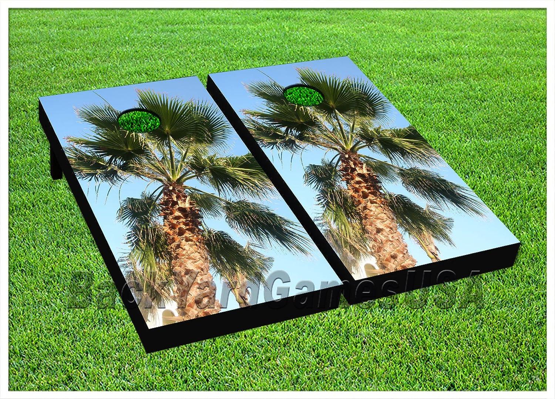 Palm Tree Cornhole Beanbag Toss GameゲームボードデジタルWバッグセット1024