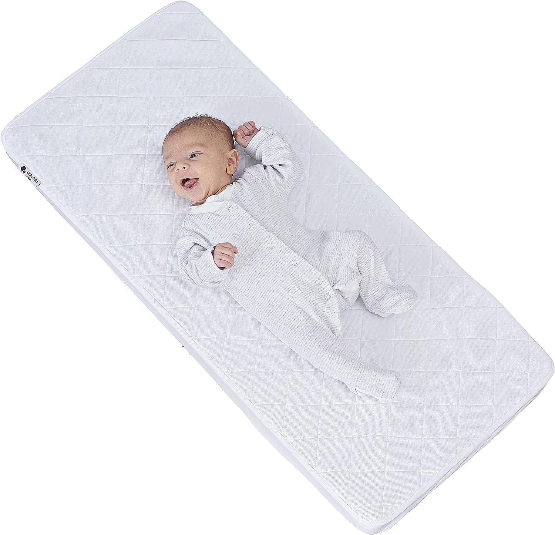 Little Chick Breathable Mattress for Cribs /& Cradles 90cm x 40cm x 5 cm