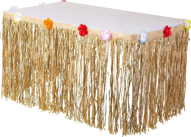 amscan International - Faldón Decorativo para Mesa (Tejido Natural ...