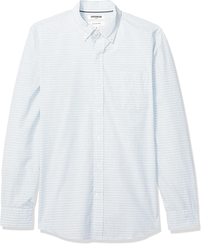 Amazon Brand - Goodthreads Men's Slim-Fit Long-Sleeve Poplin Shirt