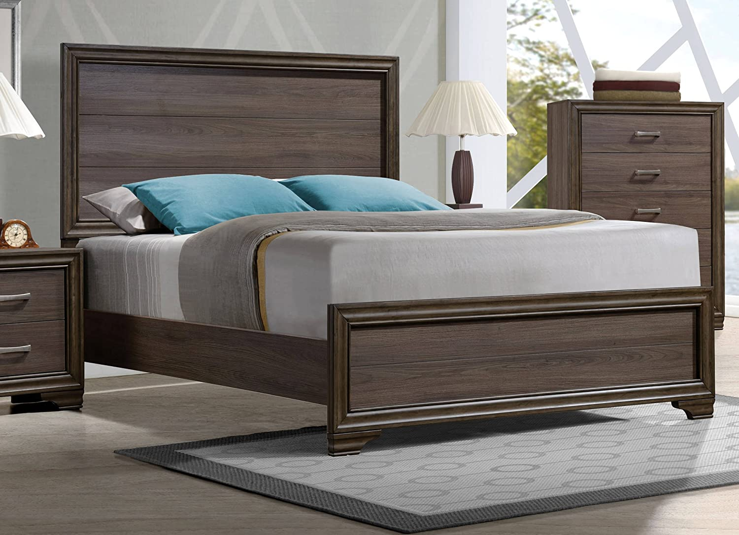 ACME Furniture Cyrille 25840Q Wooden Queen Bed - Walnut