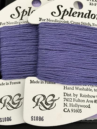 Amazon.com: Esplendor seda thread-color 1086-purple dusk- 1 ...