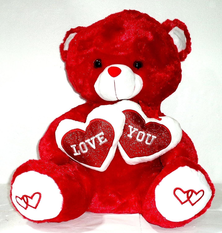 "venta al por mayor barato Oso Oso Oso de peluche Rojo con Corazones ""Love You"". Medidas Sentado: 60x43x38 cms.  venta mundialmente famosa en línea"