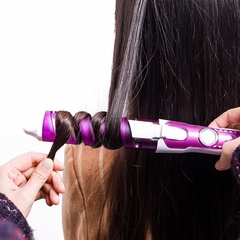 Amazon.com: New 2016 Electric Magic Hair Styling Tool Rizador De Pelo Hair Curler Roller Pro Spiral Curling Iron Wand Curl Styler(orange): Beauty