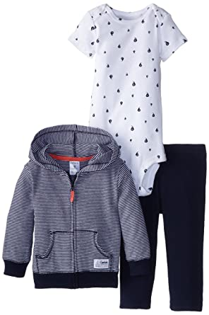7efd959ea72b Amazon.com  Carter s Baby Boys  3 Piece Cardigan Set (Baby) - Navy ...