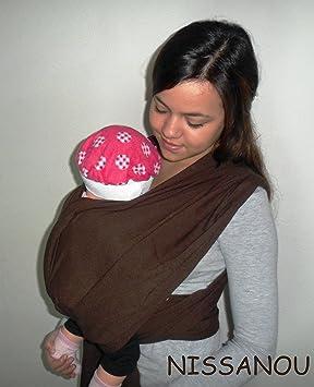 NISSANOU porte bébé ECHARPE DE PORTAGE neuve - marron CHOCOLAT- idée cadeau  naissance b1dd9a0fb3c