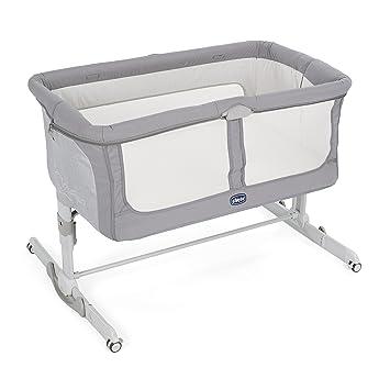 Chicco Next2Me Dream - Cuna de colecho con anclaje a cama, balancín y 11 alturas, color gris