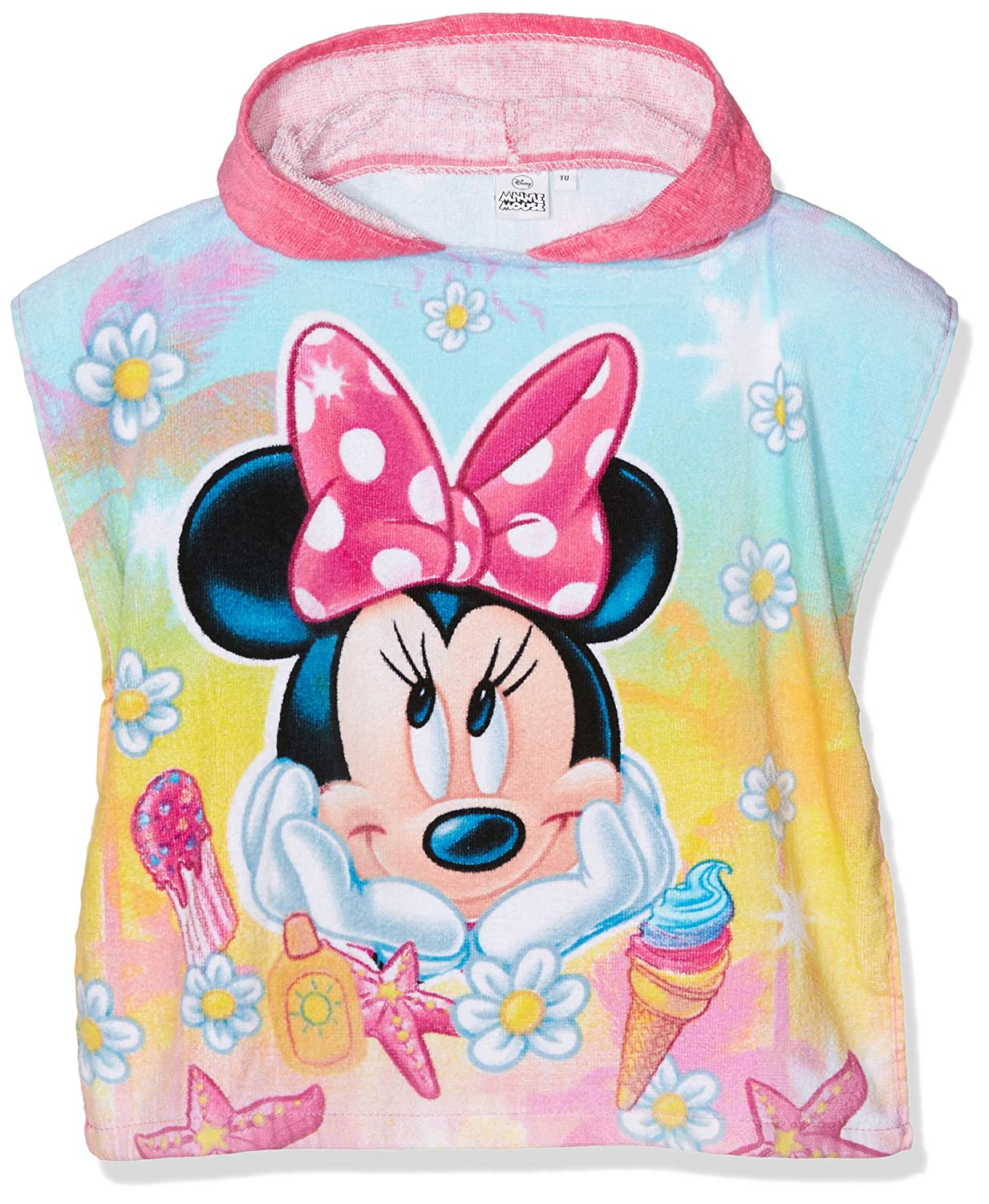 Disney Minnie Mouse Poncho Pink (Rose) One Size QE1841