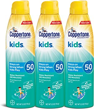 3-Pack Coppertone Kids 5.5 Ounce SPF 50 Sunscreen Continuous Spray