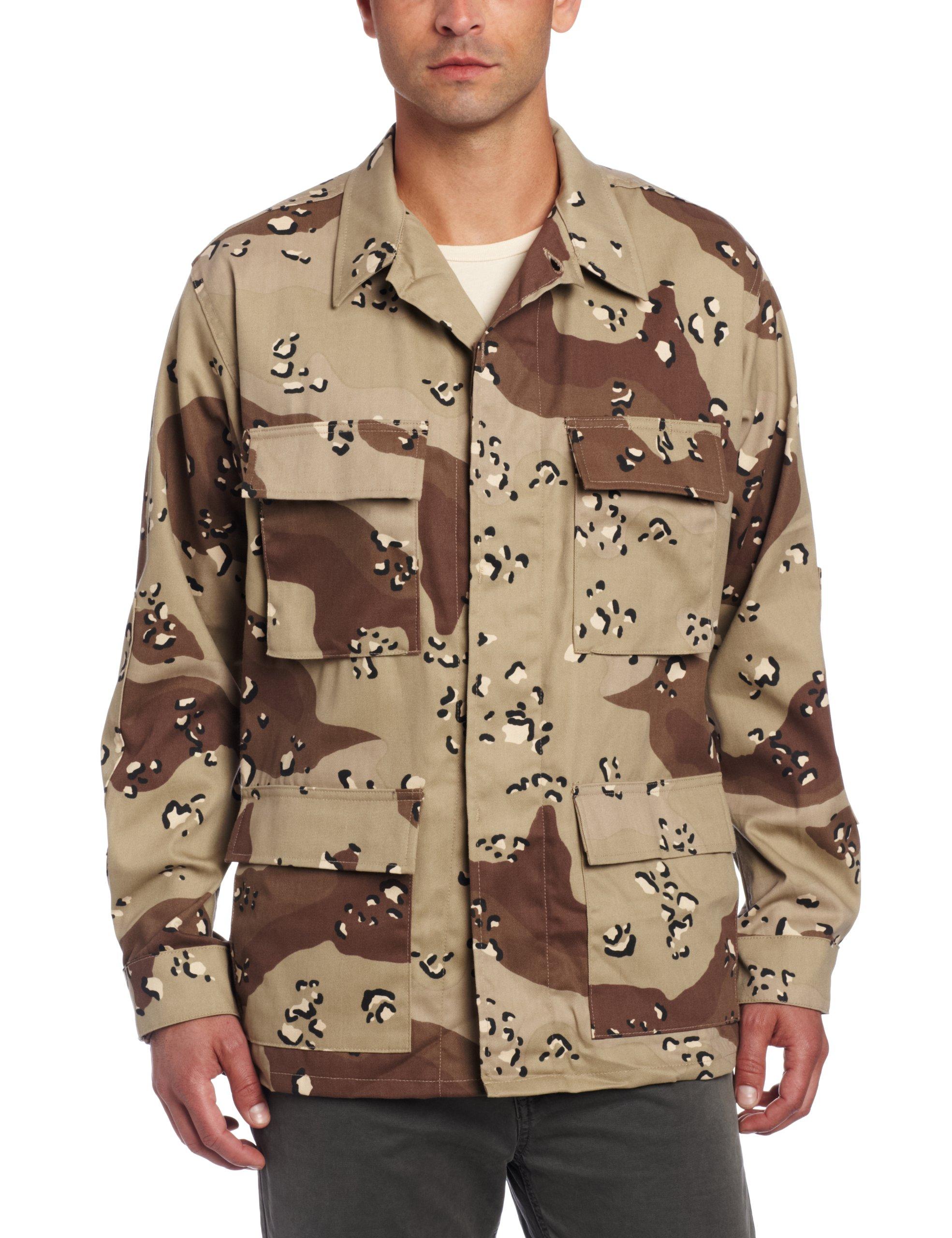 Propper Men's BDU Coat, 6 Color Desert, Small Regular