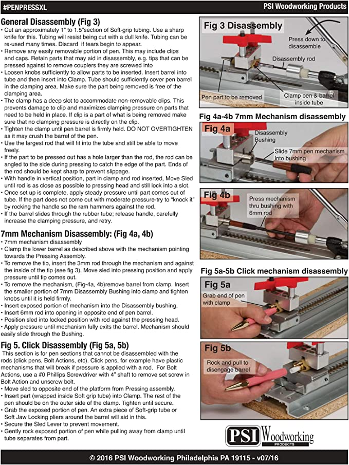 Assembly//Disassembly Pen Press
