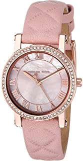 79f24cc00a23 Michael Kors Women s Quartz Stainless Steel and Leather Casual Watch