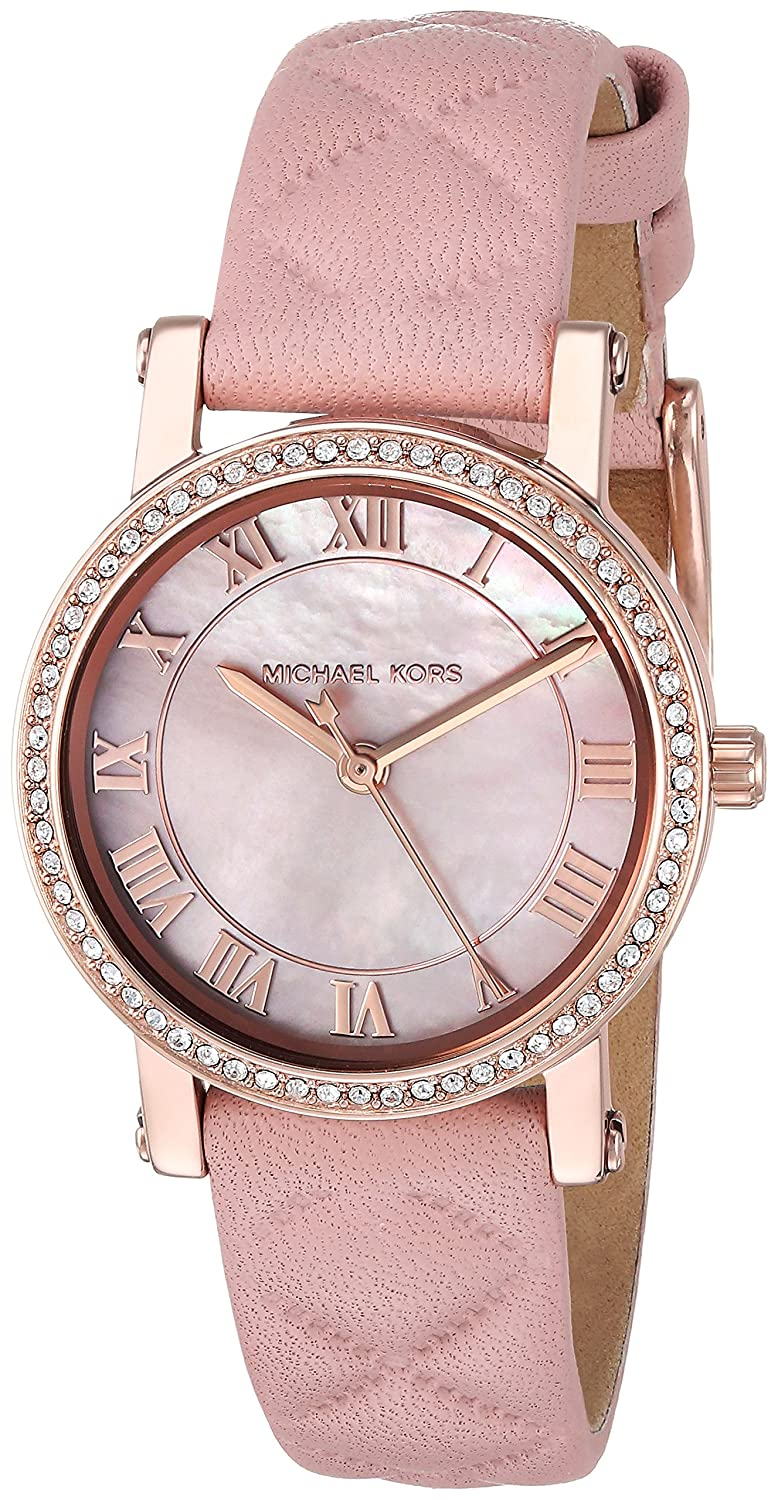 1bd314b162 Michael Kors Women's Quartz Stainless Steel and Leather Casual Watch, Color: Pink (Model: MK2683): Michael Kors: Amazon.ca: Watches