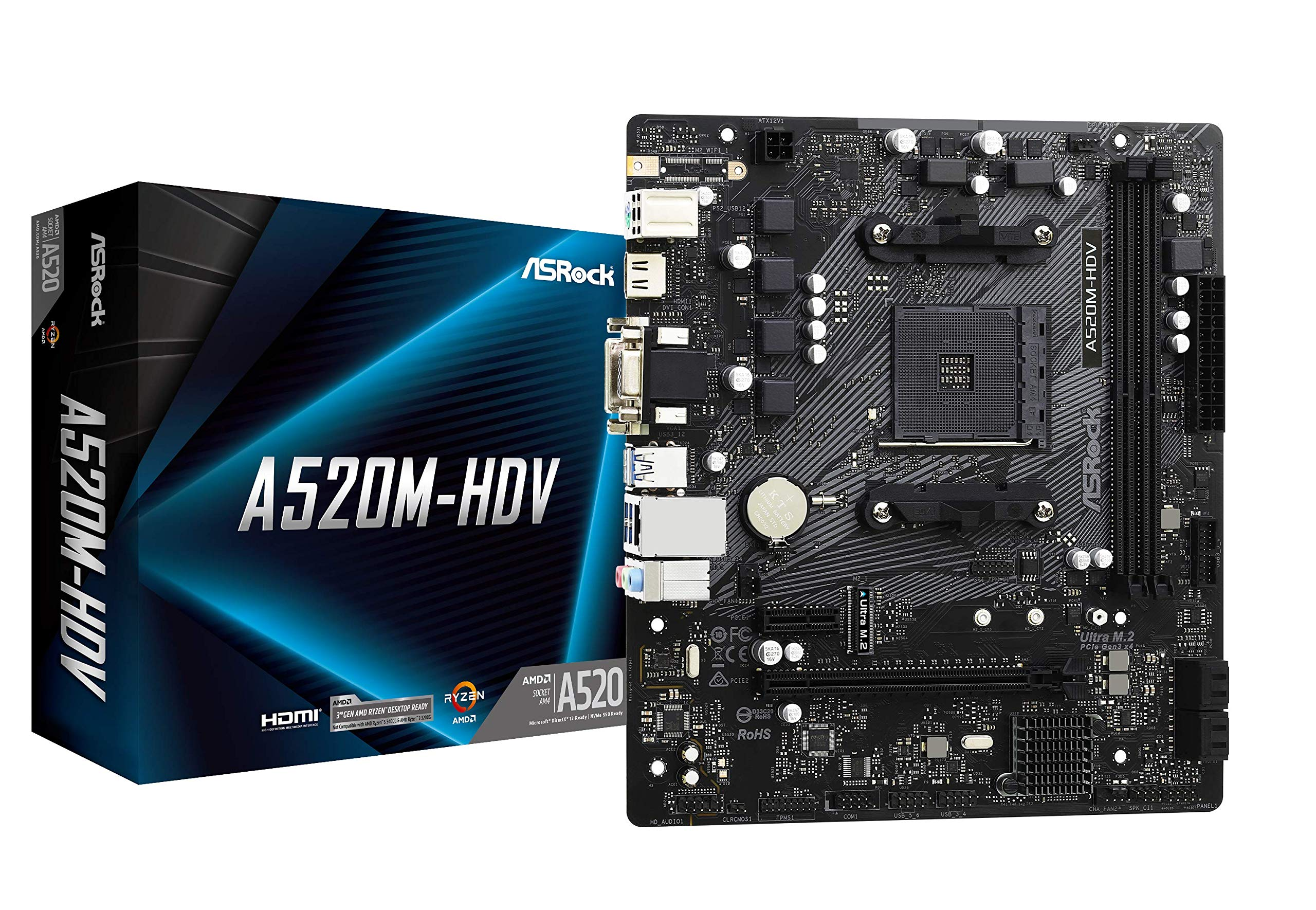 Motherboard ASRock A520M-HDV Socket AM4