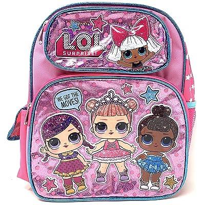 "LOL 12"" Small Pink Shiny Girls' School Backpack A16303 | Kids' Backpacks"